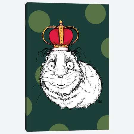 A Regal Little Guinea Pig With An Impressive Crown Canvas Print #BIF81} by Billi French Canvas Art Print