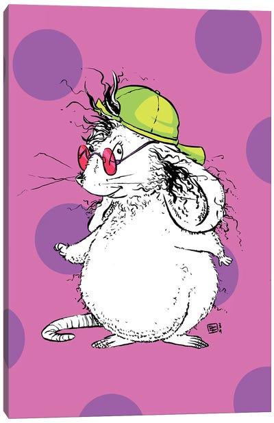 Rad Little Mouse with a Super Cool Neon Cap Canvas Art Print