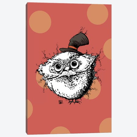 Cute Fuzzy Owl with an Adorable Little Hat Canvas Print #BIF89} by Billi French Art Print