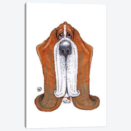Basset Hound Canvas Print #BIF96} by Billi French Canvas Art Print