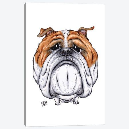 Bulldog Canvas Print #BIF98} by Billi French Canvas Artwork