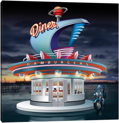 Diner Canvas Art Print