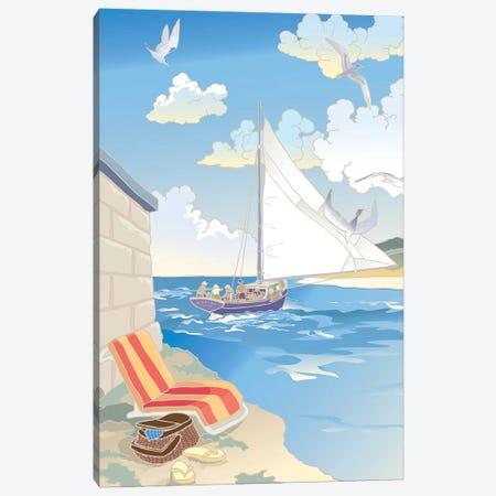 Down by the Bay Canvas Print #BII14} by Bigelow Illustrations Canvas Artwork