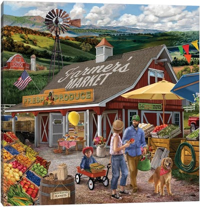 Farmers Market Canvas Art Print