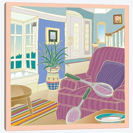 Apres Tennis Canvas Print #BII1} by Bigelow Illustrations Canvas Artwork