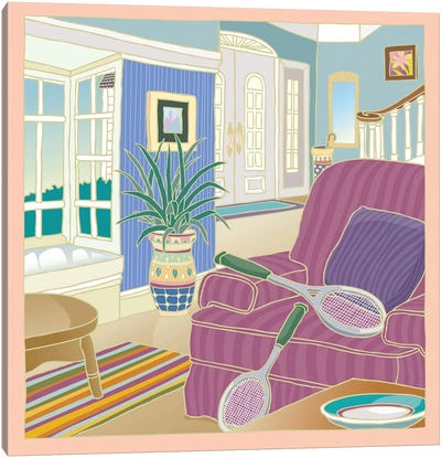 Apres Tennis Canvas Art Print