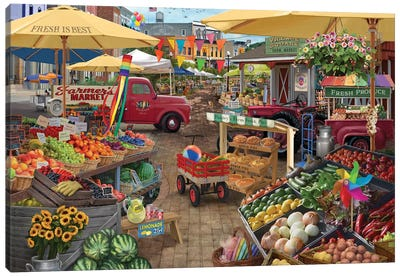 Farmers Market Day Canvas Art Print