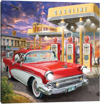 Filler Up Canvas Art Print