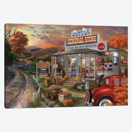 General Store Canvas Print #BII25} by Bigelow Illustrations Art Print