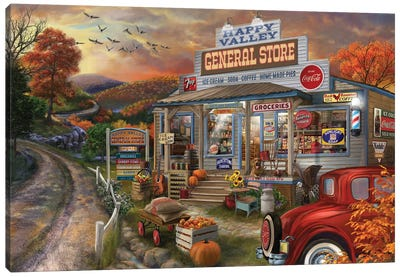 General Store Canvas Art Print