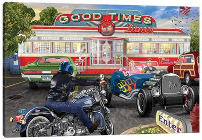 Good Times Diner Canvas Art Print