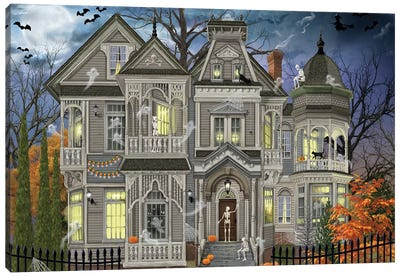 Halloween House Canvas Art Print