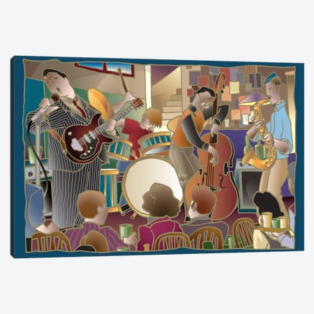 Jazzband II Canvas Print #BII30} by Bigelow Illustrations Canvas Print