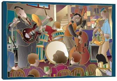 Jazzband II Canvas Art Print