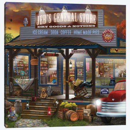 Jebs General Store Canvas Print #BII31} by Bigelow Illustrations Canvas Art Print