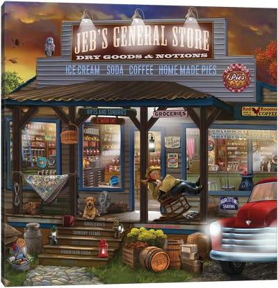 Jebs General Store Canvas Art Print