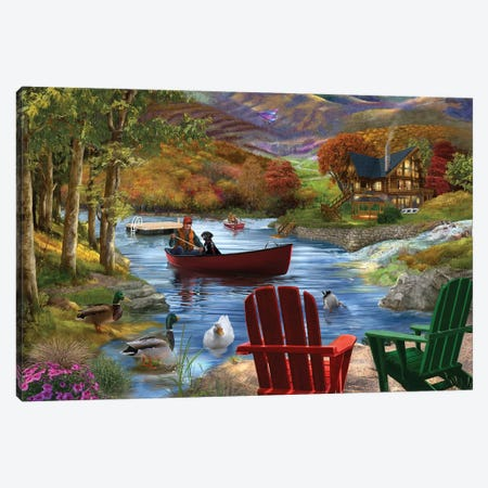 Lake Life Canvas Print #BII33} by Bigelow Illustrations Canvas Print