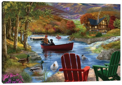 Lake Life Canvas Art Print