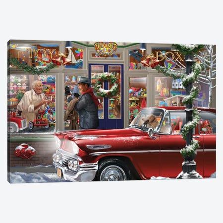 Last Minute Christmas Canvas Print #BII37} by Bigelow Illustrations Canvas Art