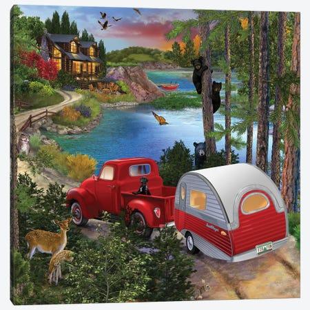 Bear Right Canvas Print #BII3} by Bigelow Illustrations Canvas Artwork