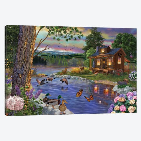 Peace River Canvas Print #BII43} by Bigelow Illustrations Canvas Wall Art
