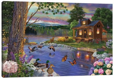 Peace River Canvas Art Print