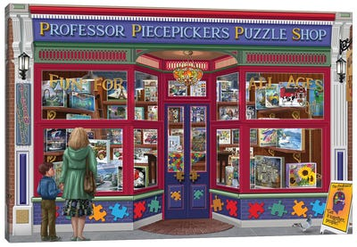 Professor Puzzles Canvas Art Print