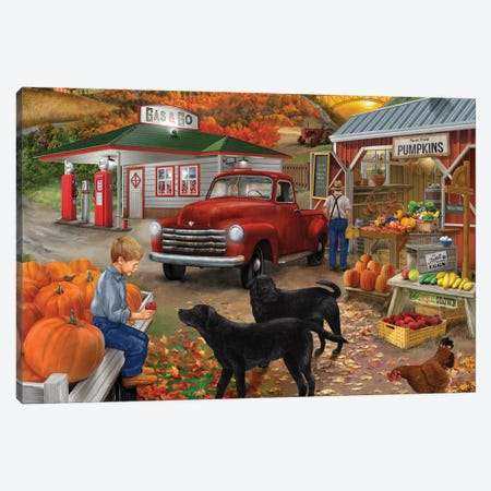 Roadside Stand 11-4 Canvas Print #BII45} by Bigelow Illustrations Canvas Art Print
