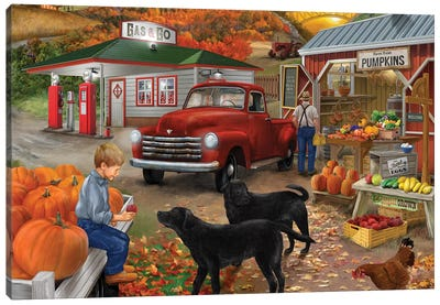 Roadside Stand 11-4 Canvas Art Print