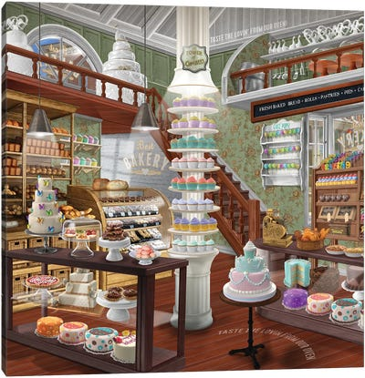 Best Bakery Canvas Art Print