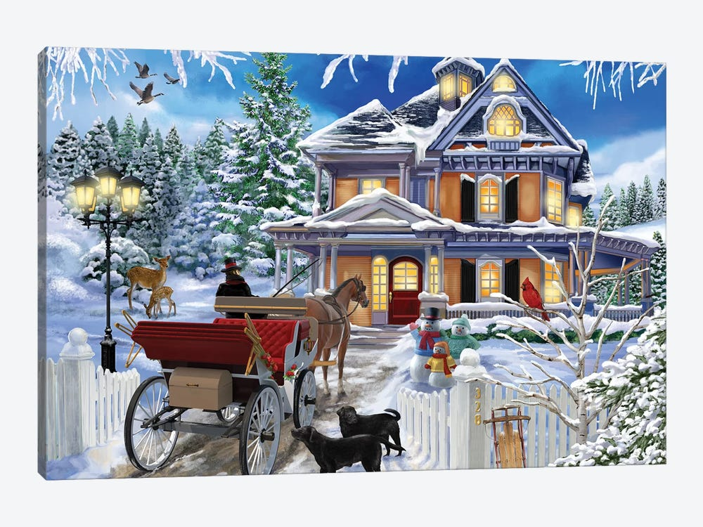 The Carriage Awaits by Bigelow Illustrations 1-piece Canvas Art Print