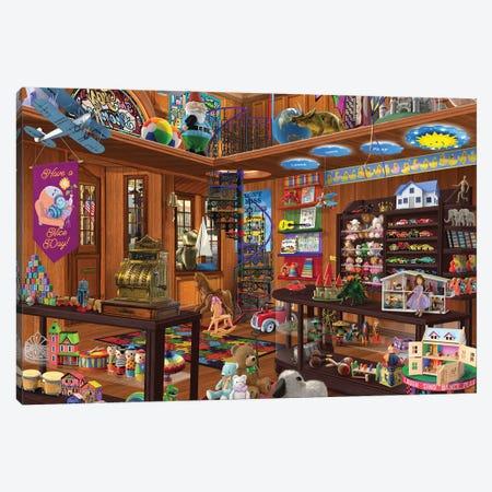 Toy Shoppe Hidden Canvas Print #BII55} by Bigelow Illustrations Canvas Wall Art