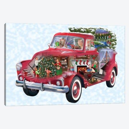 Christmas Truck Canvas Print #BII65} by Bigelow Illustrations Canvas Art Print
