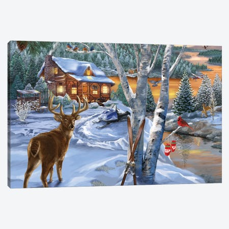 Buck River Canvas Print #BII7} by Bigelow Illustrations Canvas Print
