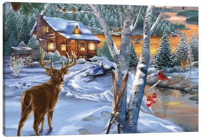 Buck River Canvas Art Print