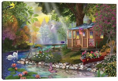 Butterfly Lake Canvas Art Print