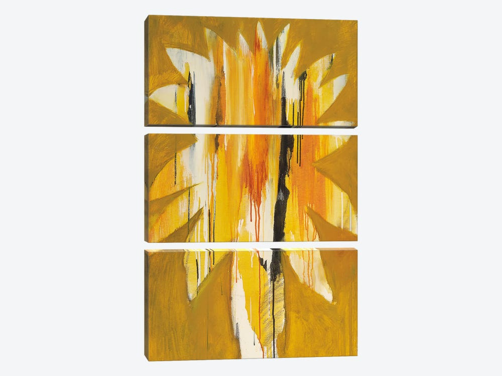Palm II by Brenda K. Bredvik 3-piece Canvas Artwork