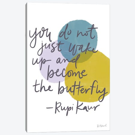 Rubi Kaur Butterfly Canvas Print #BKD30} by Bec Akard Canvas Art Print