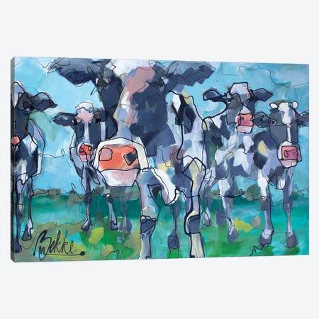 Koeies Canvas Print #BKE10} by Marieke Bekke Canvas Wall Art