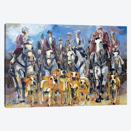 Commie Huntie Canvas Print #BKE1} by Marieke Bekke Canvas Artwork