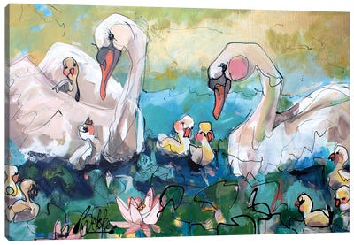 Family Day Canvas Art Print