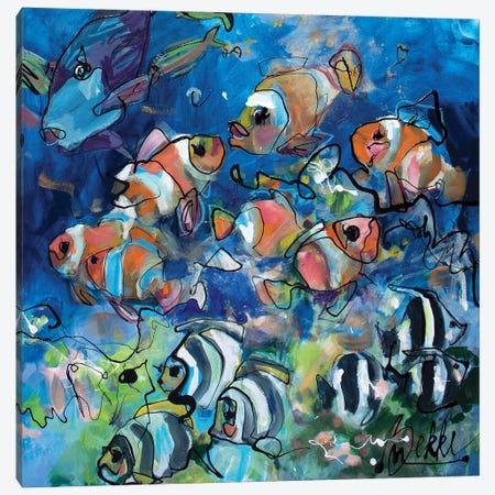 First Dive Canvas Print #BKE5} by Marieke Bekke Canvas Print