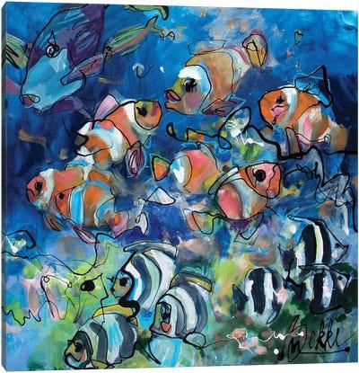 First Dive Canvas Art Print