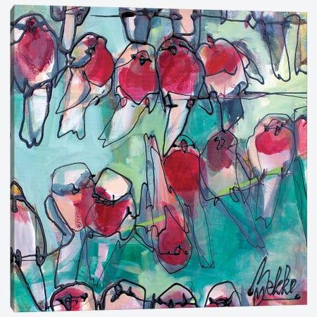 Fourty Robins Canvas Print #BKE7} by Marieke Bekke Art Print