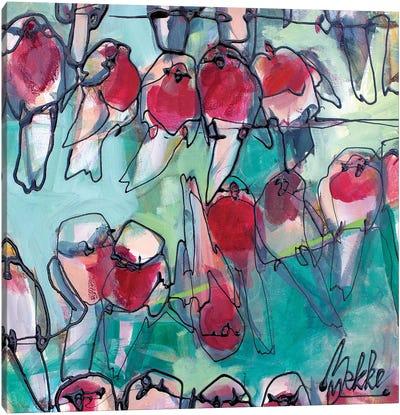 Fourty Robins Canvas Art Print