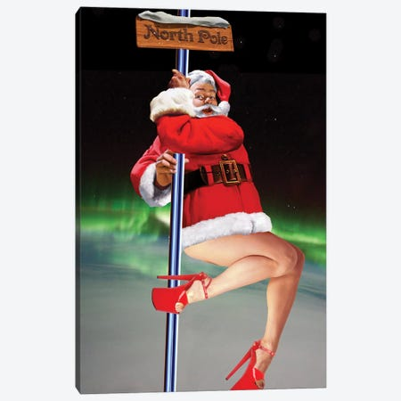North Pole Dancer Canvas Print #BKI30} by Barry Kite Canvas Wall Art