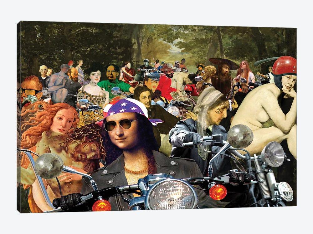 Bikers Sur L'Herbe by Barry Kite 1-piece Art Print