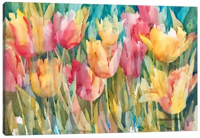 Pastel Tulips Canvas Art Print