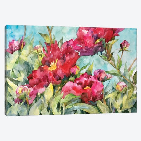 Peony Paradise Canvas Print #BKK102} by Annelein Beukenkamp Art Print