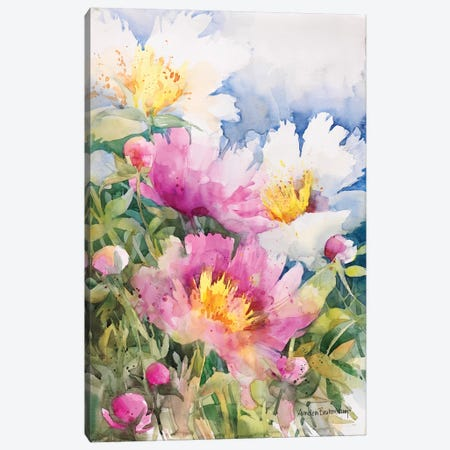 Peony Performance 3-Piece Canvas #BKK103} by Annelein Beukenkamp Canvas Print